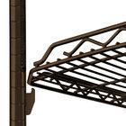 Metro HDM2436Q-DCH qwikSLOT Drop Mat Copper Hammertone Wire Shelf - 24 inch x 36 inch