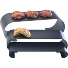 Cal-Mil 1433-13 Large Black Steel 3 Curl Riser Set
