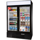 Beverage Air LV49-1-B Black LumaVue 52 inch Refrigerated Glass Door Merchandiser - 49 Cu. Ft.