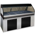 Alto-Shaam EU2SYS-72/PL SS Stainless Steel Cook / Hold / Display Case with Curved Glass and Base - Left Self Service, 72 inch