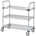Metro MW401 Super Erecta 18 inch x 24 inch x 38 inch Three Shelf Standard Duty Utility Cart