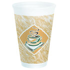 Dart Solo 16X16G 16 oz. Customizable Espresso Foam Cup 1000 / Case