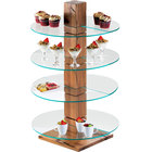 Cal-Mil 791-99 Reclaimed Wood Single Pillar Stand - 9 inch x 9 inch x 32 1/2 inch