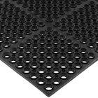 San Jamar KM2100B Tuf-Mat 3' x 5' Black Grease-Resistant Bagged Floor Mat - 3/4