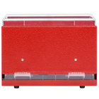 Vollrath 3825-02 Straw Boss Single Sided Bulk Straw Dispenser - Red