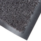 Cactus Mat 1437M-L36 Catalina Standard-Duty 3' x 6' Charcoal Olefin Carpet Entrance Floor Mat - 5/16