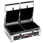 Cecilware TSG-2F Double 19 3/4 inch x 10 inch Panini Sandwich Grill with Flat Surfaces - 240V