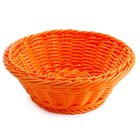 GET WB-1501-OR 9 1/2 inch x 3 1/2 inch Designer Polyweave Orange Round Basket - 12 / Case