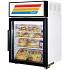 True GDM-5-LD White Countertop Display Refrigerator with Swing Door - 5 cu. ft.
