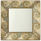 GET ML-102-MO Mosaic 6 inch Square Plate - 12/Pack