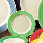 CAC R-3 GREEN Rainbow Pasta / Soup Bowl 12 oz. - Green - 24 / Case
