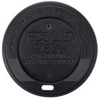 Eco-Products 10, 12, 16, and 20 oz. Black Recycled Content Hot Paper Cup Lid - 1000/Case