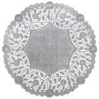 12 inch Silver Foil Lace Doily - 500/Case