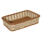 GET WB-1513-TT Designer Polyweave Plastic Rectangular Basket 17 1/2 inch x 11 1/2 inch x 3 3/4 inch - 6 / Pack