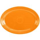 Homer Laughlin 456325 Fiesta Tangerine 9 5/8 inch Small Oval Platter   - 12/Case