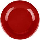 Carlisle 3302405 Sierrus 12 inch Red Wide Rim Melamine Plate - 12/Case
