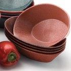 HS Inc. HS1011L 10 inch x 6 inch x 2 1/2 inch Paprika Polyethylene Large Oval Basket - 24/Case