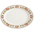 GET M-4050-TR Tea Rose 9 inch x 6 1/2 inch Oval Melamine Platter - 12 / Pack