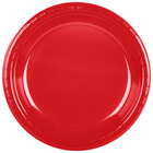 Creative Converting 28103131B 10 1/4 inch Classic Red Plastic Plate - 50 / Pack