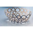 American Metalcraft WCW69 9 inch x 6 inch Oval Silver Go-Go Basket