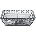 Tablecraft BK27209 Mediterranean Rectangular Black Metal Basket - 9 inch x 6 inch x 3 inch