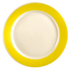 CAC R-8-Y Rainbow Dinner Plate 9 inch - Yellow - 24/Case