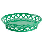 GET RB-860-FG Forest Green Round 10 1/2 inch Plastic Fast Food Basket - 12/Pack