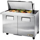 True TSSU-48-18M-B 48 inch Mega Top 2 Door Sandwich / Salad Prep Refrigerator - 18 Pans