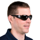 Bulldog Scratch Resistant Safety Glasses / Eye Protection - Black with Gray Lens