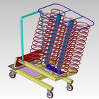 Alto-Shaam UN-27969 Roll-In Plate Cart Trolley for 12.20MW, 12.20W, 12-20es, and QC-50 Models - Holds 70 Plates