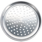 American Metalcraft HATP11P 11 inch Perforated Wide Rim Pizza Pan - Heavy Weight Aluminum