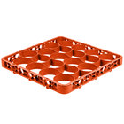 Carlisle REW20SC24 OptiClean NeWave 20 Compartment Color-Coded Short Glass Rack Extender - Orange