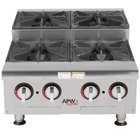 APW Wyott GHPS-4i Step-Up Four Burner Countertop Range