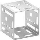 Cal-Mil 1607-5-55 5 inch Stainless Steel Squared Cube Riser