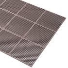 Cactus Mat 2535-B23 Honeycomb 2' x 3' Brown Rubber Anti-Fatigue Mat - 9/16