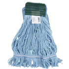 Continental A05102 24 oz. Medium Blue Blend Loop End Mop Head with 5 inch Band