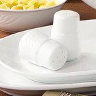 CAC RSV-PS Roosevelt 2 7/8 inch Super White Porcelain Pepper Shaker - 48/Case
