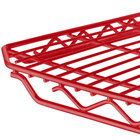 Metro 1436Q-DF qwikSLOT Flame Red Wire Shelf - 14 inch x 36 inch