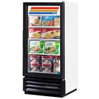 True GDM-10F-LD White Glass Door Merchandiser Freezer with LED Lighting - 10 Cu. Ft.