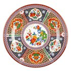 Peacock 14 3/8 inch Round Melamine Plate - 12/Pack