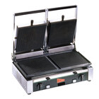 Cecilware TSG-2G Double 19 3/4 inch x 10 inch Panini Sandwich Grill with Grooved Surfaces - 240V