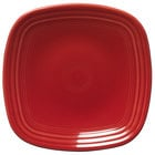 Homer Laughlin 920326 Fiesta Scarlet 9 1/4 inch Square Luncheon Plate - 12 / Case