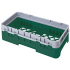 Cambro HBR414119 Sherwood Green Camrack Half Size Open Base Rack with 1 Extender