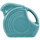 Homer Laughlin 475107 Fiesta Turquoise 4.75 oz. Mini Disc Creamer Pitcher - 4/Case