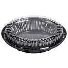 D&W Fine Pack J40 9 inch Black Pie Display Container with Clear Low Dome Lid 100/Case