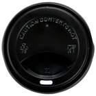Choice 8 oz. Black Hot Paper Cup Travel Lid - 1000 / Case