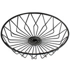 Cal-Mil 1292TRAY Black Round Wire Basket - 12 inch x 3 inch