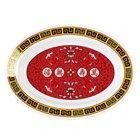Longevity 12 inch x 9 inch Oval Melamine Deep Platter - 12/Pack