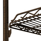 Metro qwikSLOT Copper Hammertone Wire Shelving