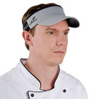 Gray Headsweats Customizable 7703-221 CoolMax Chef Visor